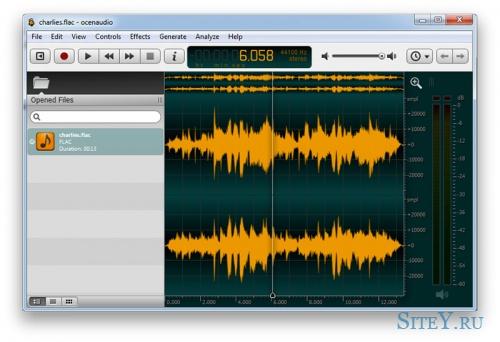 Аудио редактор Ocenaudio 3.0.3
