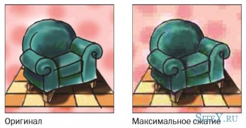 Особенности работы с изображением формата JPEG.