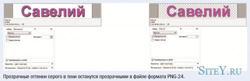 Создание прозрачных файлов в форматах GIF и PNG.